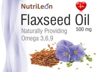 NutriLeon Flaxseed Oil 500mg Supplement (60 Capsules) - Pack of 4
