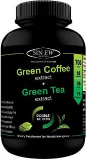 Sinew Nutrition Green Coffee Plus Green Tea 700mg Supplement (60 Capsules)