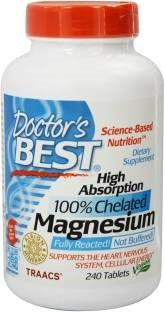 Doctor'S Best High Absorption Magnesium 100% Chelated Supplements (240 Capsules)