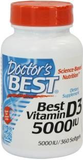 Doctor's Best Vitamin D3 5000 IU Supplements (360 Softgels)