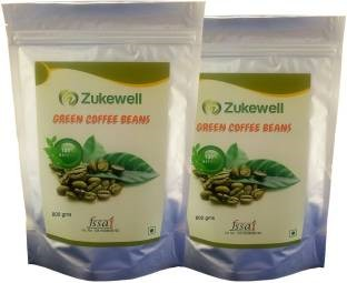 Zukewell Green Coffee Beans (800gm, Pack of 2)