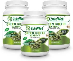 Zukewell Green Coffee Extract Supplement (30 Capsules, Pack of 3)