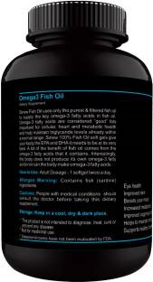 Sinew Nutrition Omega 3 Fish Oil 1000mg Supplement (120 Capsules)