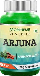Morpheme Remedies Terminalia Arjuna 500mg Extract Supplements (60 Capsules, Pack of 3)