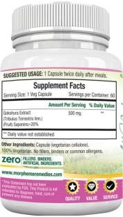 Morpheme Remedies Tribulus Terrestris 500 mg Extract Supplements (60 Capsules, Pack of 3)