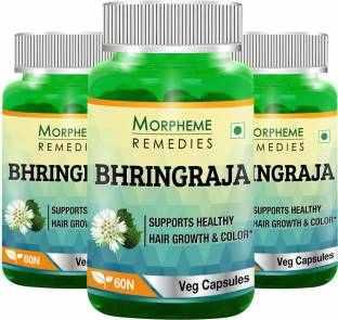 Morpheme Remedies Bhringraja 500 mg Extract Supplements (60 Capsules) - Pack Of 3