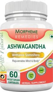 Morpheme Remedies Ashwagandha Withania Somnifera 500mg Extract Supplements (60 Capsules) - Pack Of 3