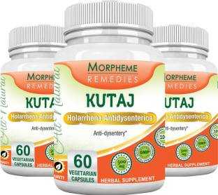 Morpheme Remedies Kutaj 500mg Extract Supplements (60 Capsules) - Pack Of 3