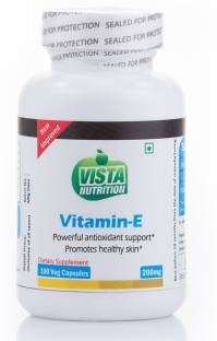 Vista Nutrition Vitamin E 200 mg Supplements (100 Capsules)