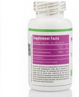 Zenith Nutrition Vitamin D3 Supplements (120 Capsules)