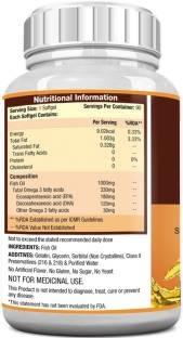 MuscleXP Fish Oil 1000 mg Omega-3, 90 softgels