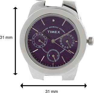 Timex J101 E Class Analog Purple Dial Women's Watch (J101)
