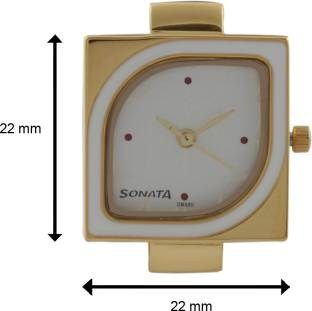 Sonata ND8919YL02 Analog Yuva Gold White Dial Women's Watch