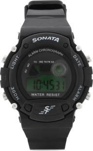 Sonata NG7982PP03J Digital Grey Dial Men's Watch (NG7982PP03J)