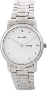 Sonata NC1013SM06 Classic Analog White Dial Men's Watch (NC1013SM06)