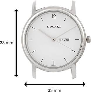 Sonata NC1013SM06 Classic Analog White Dial Men's Watch