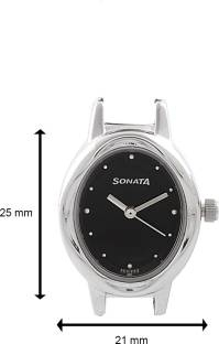Sonata 8085SM01C Everyday Analog Black Dial Women's Watch