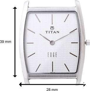 Titan Edge NH1044SL01 Analog Silver Dial Men's Watch (NH1044SL01)