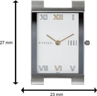 Titan Edge NH1296BM01 Analog White Dial Men's Watch (NH1296BM01)