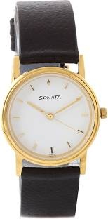 Sonata ND1141YL02 Classic Analog White Dial Men's Watch