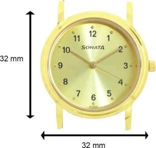 Sonata ND1141YL01 Analog Gold Dial Men's Watch