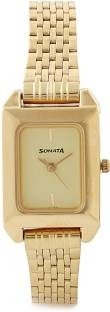 Sonata NG8067YM02 Analog Gold Dial Women's Watch (NG8067YM02)