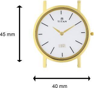 Titan Edge NH1595YL01 Analog White Dial Men's Watch (NH1595YL01)