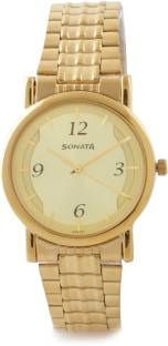 Sonata NH7987YM01CJ Wedding Analog Gold Dial Men's Watch (NH7987YM01CJ)
