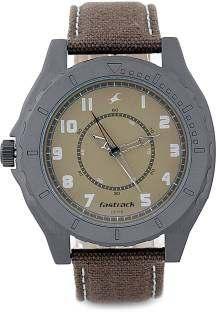 Fastrack NG9462AL02 OTS Explorer Analog Beige Dial Men's Watch
