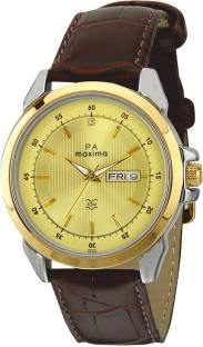 Maxima 26340LMGT Analog Gold Dial Men's Watch (26340LMGT)