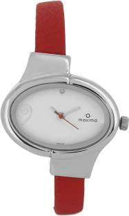 Maxima 25200LMLI Attivo Analog White Dial Women's Watch (25200LMLI)