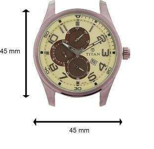 Titan Octane 9487QP01J Multi Function Chronograph Beige Dial Men's Watch (9487QP01J)