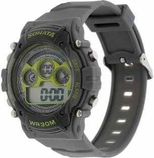 Sonata NH77006PP02J Digital Grey Dial Men's Watch (NH77006PP02J)