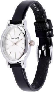 Sonata 8100SL01C Analog Silver Dial Women's Watch (8100SL01C)