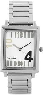 Sonata NH7078SM01C Analog White Dial Men's Watch