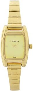 Sonata 8103YM01 Analog Champagne Dial Women's Watch (8103YM01)