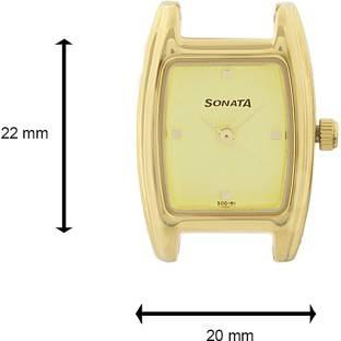 Sonata 8103YM01 Analog Champagne Dial Women's Watch