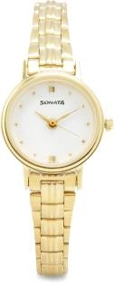 Sonata 8096YM01C Analog White Dial Women's Watch (8096YM01C)