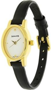 Sonata 8100YL01C Analog Gold Dial Women's Watch (8100YL01C)