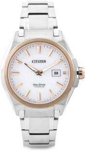Citizen Eco-Drive BM6936-51A Analog White Dial Men's Watch (BM6936-51A)