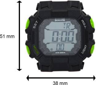 Sonata NH77025PP01 Superfibre Ocean III Digital Watch (NH77025PP01)