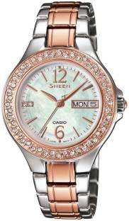Casio Sheen SHE-4800SG-7AUDR (SX100) Multi Function Analog White Dial Women's Watch