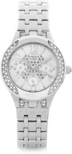 Casio Sheen SHE-3803D-7AUDR (SX105) Multi Function Analog White Dial Women's Watch (SHE-3803D-7AUDR (SX105))