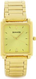 Sonata NG7053YM02AC Casual Analog Gold Dial Men's Watch (NG7053YM02AC)