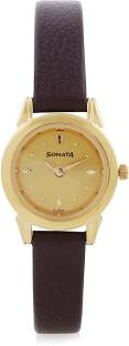 Sonata 8925YL02 Analog Gold Dial Women's Watch