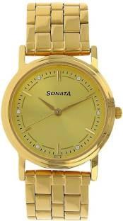 Sonata ND1141YM22C Analog Gold Dial Men's Watch (ND1141YM22C)