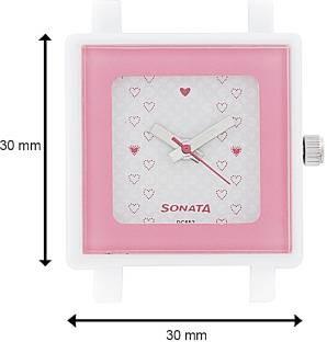 Sonata NF8996PP04 Analog White Dial Women's Watch