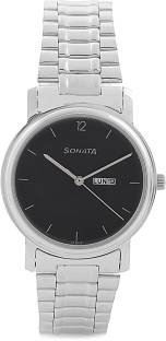 Sonata NC1013SM04 Analog Black Dial Men's Watch