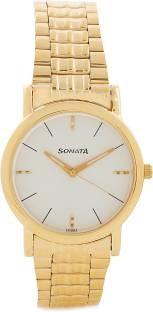 Sonata NF7987YM05CJ Analog White Dial Men's Watch