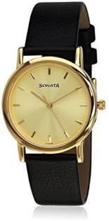 Sonata NH7987YL01CJ Analog Gold Dial Men's Watch (NH7987YL01CJ)